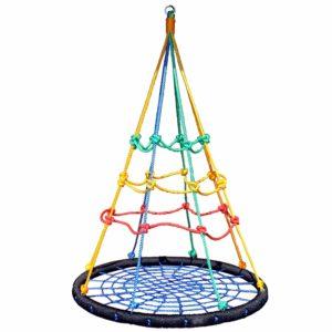 Nestschaukel mit Klettersnetz, Gartenschaukel
